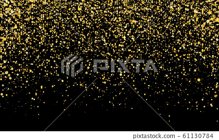 Golden confetti. Gold abstract particles. 61130784