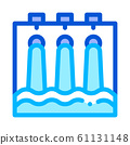 Water Hydraulic Engineering Station Vector Icon 61131148