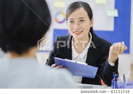 business woman, human resource, interview 61131516