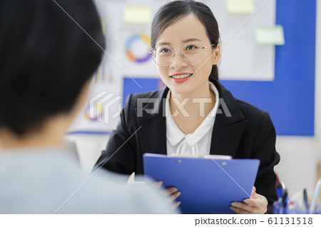 business woman, human resource, interview 61131518