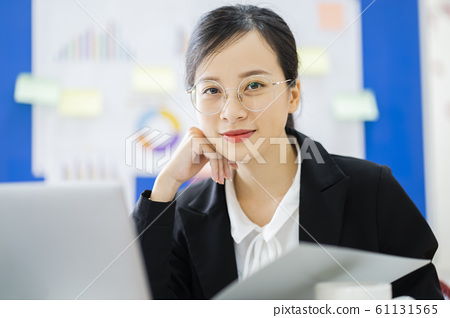 business woman, working, office 61131565