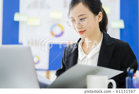 business woman, working, office 61131567
