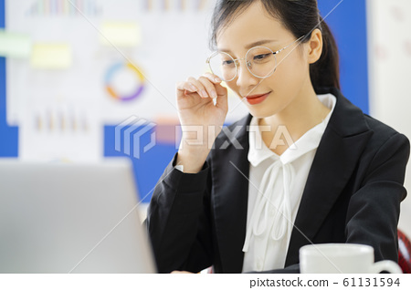business woman, working, office 61131594