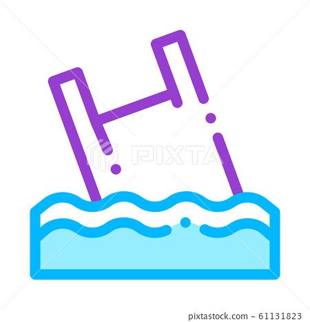 Bag Junk Flotsam In Ocean Vector Thin Line Icon 61131823