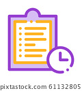 Clipboard Tablet With Tasks Vector Thin Line Icon 61132805