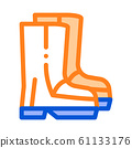 Waterproof Material Gumboots Shoes Vector Icon 61133176