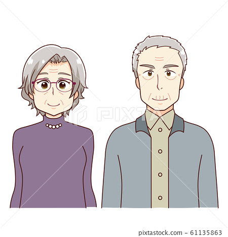 Anime touch old couple 2 people 61135863