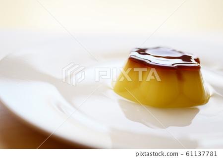 布丁糖果店未加工的糖果店食物點心快餐dorce焦糖杯子佈丁 61137781