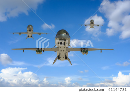 Military drone fly 61144781