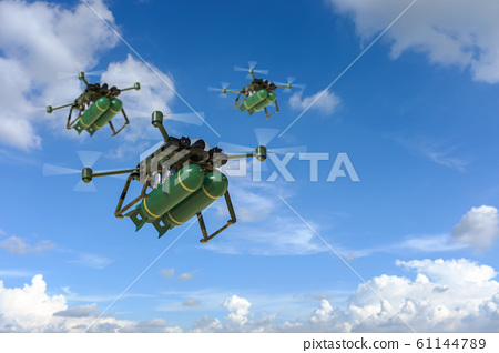 military drone with missiles 61144789
