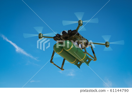 military drone with missiles 61144790