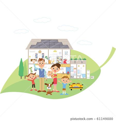 잎을 타고 친환경 전원 주택 및 가족 61149880