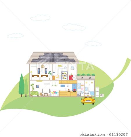 에코 나뭇잎 태양 전지 패널 주거 61150297