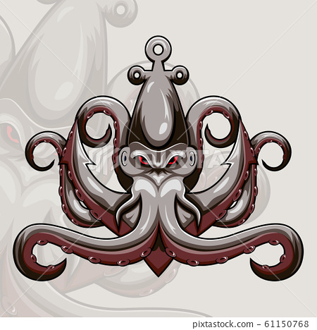 Kraken octopus esport mascot logo design 61150768