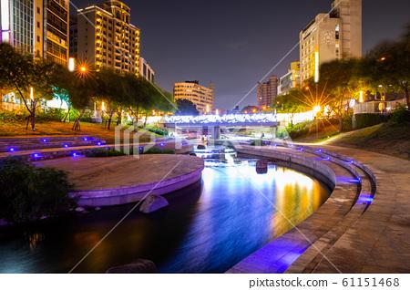 臺灣臺中柳川水岸步道Asia Taiwan Taichung Waterfront Trail 61151468