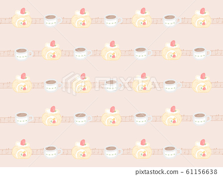 Fruit roll cake background brown 61156638