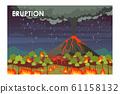 Eruption process flat vector illustration 61158132