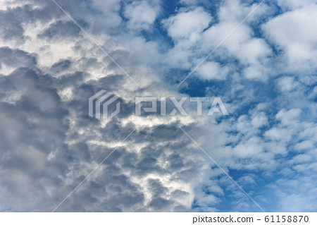 Blue sky with clouds - Full frame background 61158870
