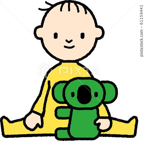 嬰兒和毛絨玩具 61159441