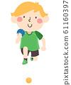 Kid Boy Sweden Ball Illustration 61160397
