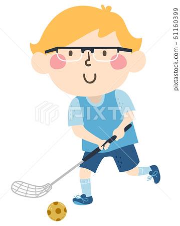 Kid Boy Sweden Floorball Illustration 61160399