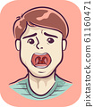 Boy Symptom Sore Throat Illustration 61160471