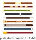 Male and female belts flat illustrations set 61161569