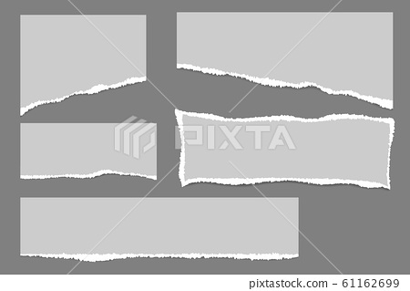 Vector of ripped paper. The paper was ripped 61162699