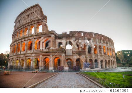 The Colosseum or Flavian Amphitheatre in Rome, 61164392