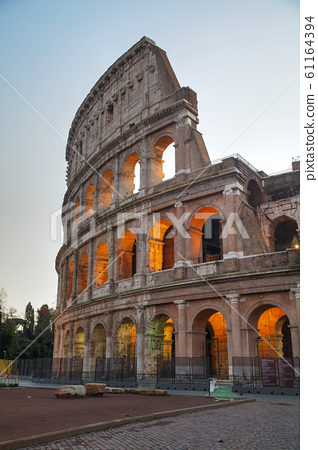The Colosseum or Flavian Amphitheatre in Rome, 61164394