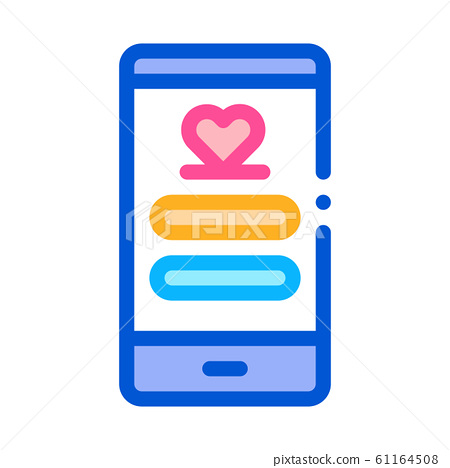 Love Connection Icon Vector Outline Illustration 61164508