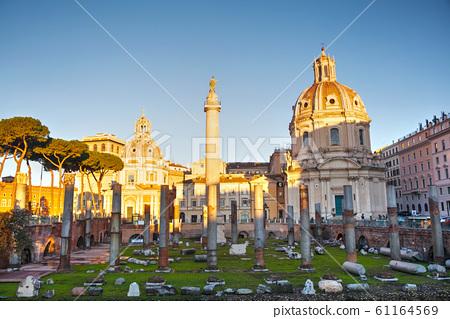 Trajan Forum ruins in Rome 61164569
