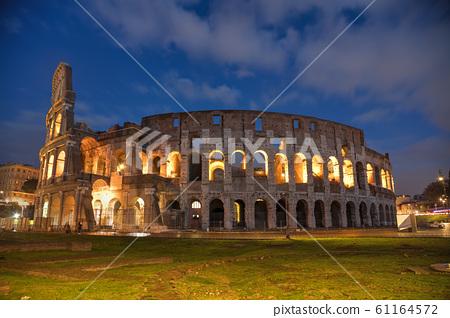 The Colosseum or Flavian Amphitheatre in Rome, 61164572