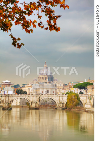 Rome overview with the Papal Basilica of St. Peter 61164575