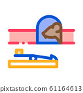 Mousetrap Icon Vector Outline Illustration 61164613