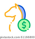 Horse Racing Betting And Gambling Icon Vector Illustration 61166800