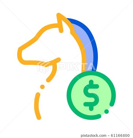Horse Racing Betting And Gambling Icon Vector Illustration 61166800