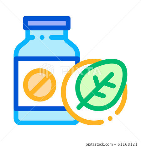 Bio Medicines Supplements Icon Vector Illustration 61168121