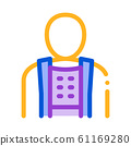 Orthopedic Belt For Spine Back Support Vector Icon 61169280