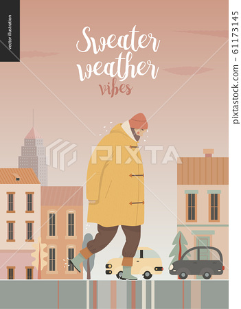 Rain - walking man 61173145
