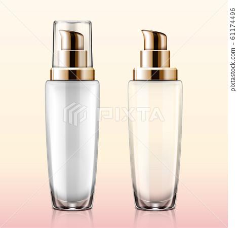 Glass cosmetic lotion pump mockup 61174496