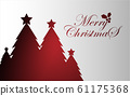 Christmas tree background, Christmas icons vector 61175368