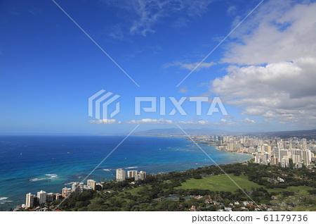 View from Diamond Head, Hawaii 61179736