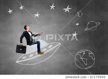 Guy ride UFO ship 61179998