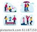 Happy Family Routines, Activities Vector Concepts 61187150