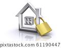 房子圖標和鍵 61190447