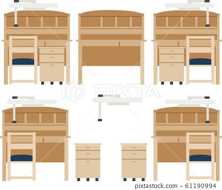 일러스트 소재 인테리어 책상 의자 벡터 61190994