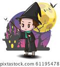 cute Wizards cartoon., Halloween content. 61195478