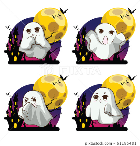 Cute Whisper Ghost cover fabric white. Ghost 61195481