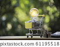 Energy saving light bulb with shopping cart 61195518